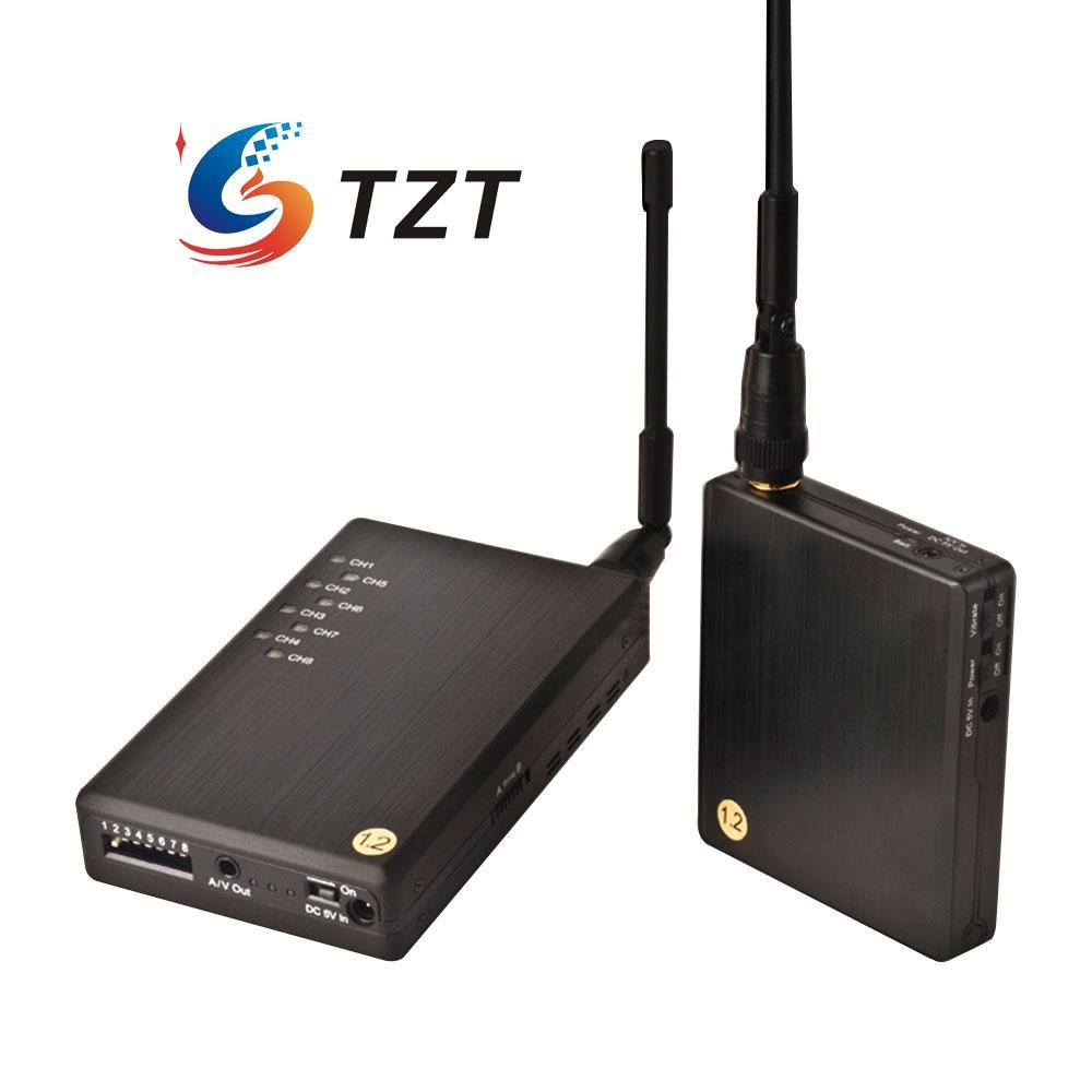 1 2G 700mW Wireless Audio Video AV Transmitter Receiver System Transceiver Telemetry Monitoring Set for FPV