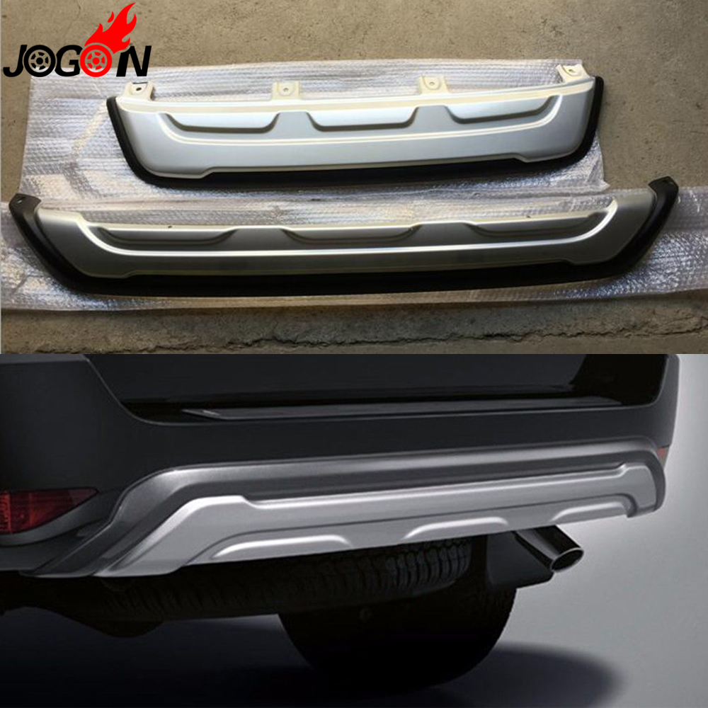 Front Amp Rear Trunk Exterior Bumper Guard Skid Plate Cover Abs Chrome 2pcs For Toyota Fortuner