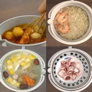 Image 3 - Folding Electric Skillet Kettle Heated Food Container Heated Lunch Box Cooker Portable Hot Pot Cooking Tea