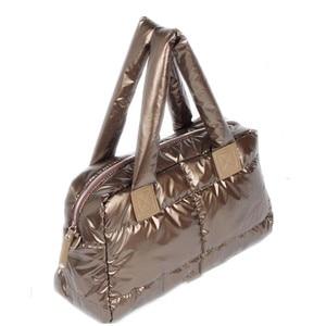 Image 4 - 2020 New Winter Women Space Cotton Handbags casual Ladies Bag Down Fashion Bright Shoulder Bag Female tote Bolsas sac a main