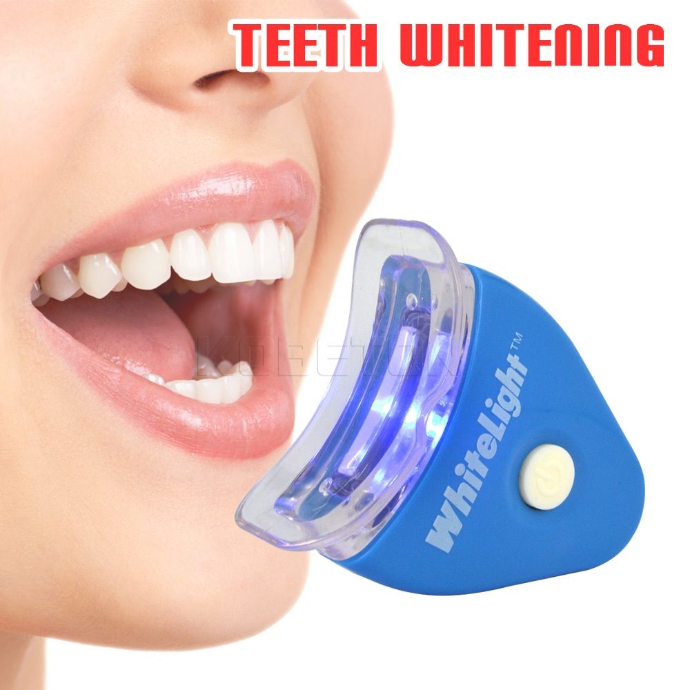 ᗖprofessional Teeth Whitening Kit White Led Light Blanqueador