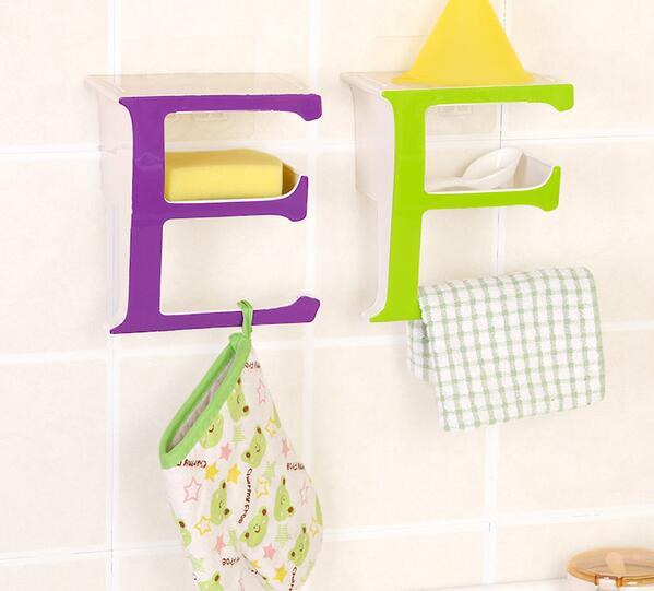 Fashion Soap Box Wall Hanging Shelf Rack Storage Holder E Shape Bathroom Saving Home Bedroom Decoration In Holders Racks