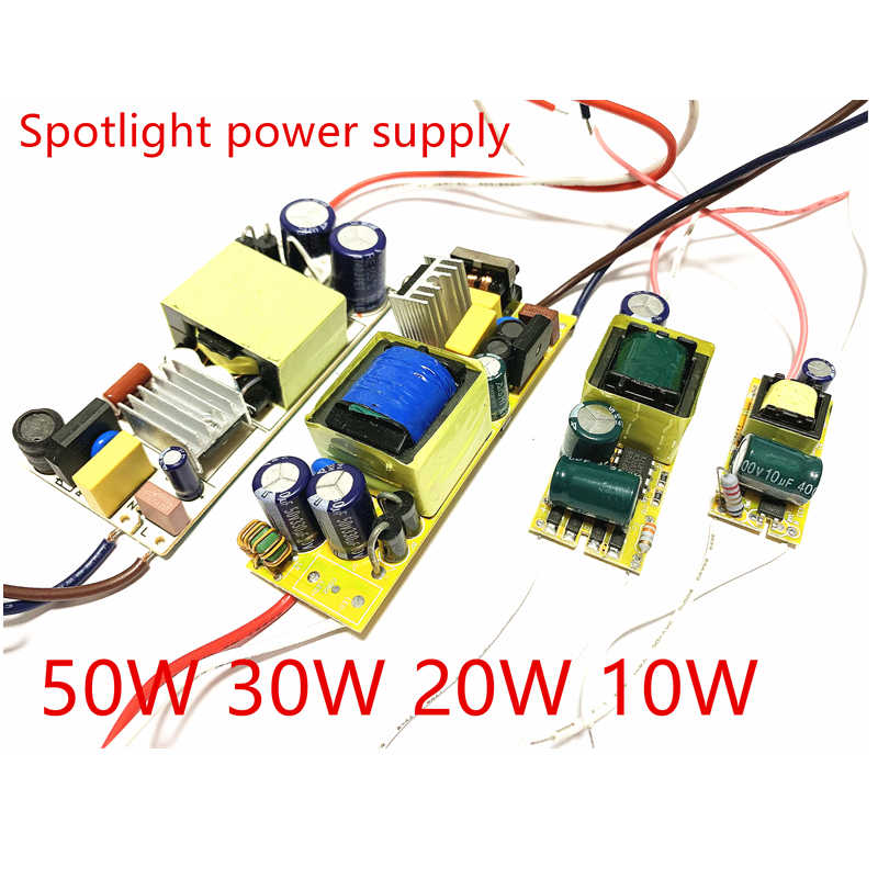 Waterproof LED Driver Power Supply for LED Light 10W 20W 30W 50W Spotlight Power Supply street lamp Flood lamp drive transformer