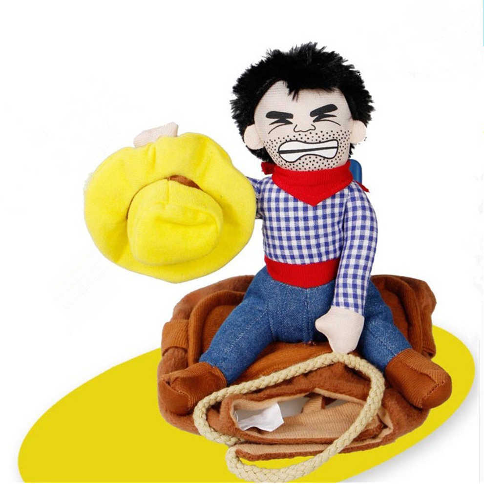 Gomaomi Pet Dog Costume Pet Suit Cowboy Rider Style Clothes