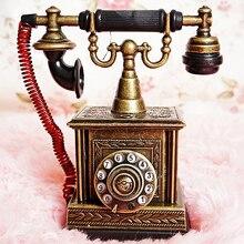 เหล็กพองรอบโทรศัพท์สายตรงรุ่นเบากับโทรศัพท์คลาสสิกย้อนยุคตกแต่งงานฝีมือ