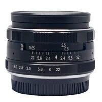 Meike MK-50mm-P/O büyük Diyafram Manuel Çok Kaplamalı odak lensi APS-C için Olympus Panasonic Lumix GM1 GM2 GX1 GX2 GF7 GH3 GH4