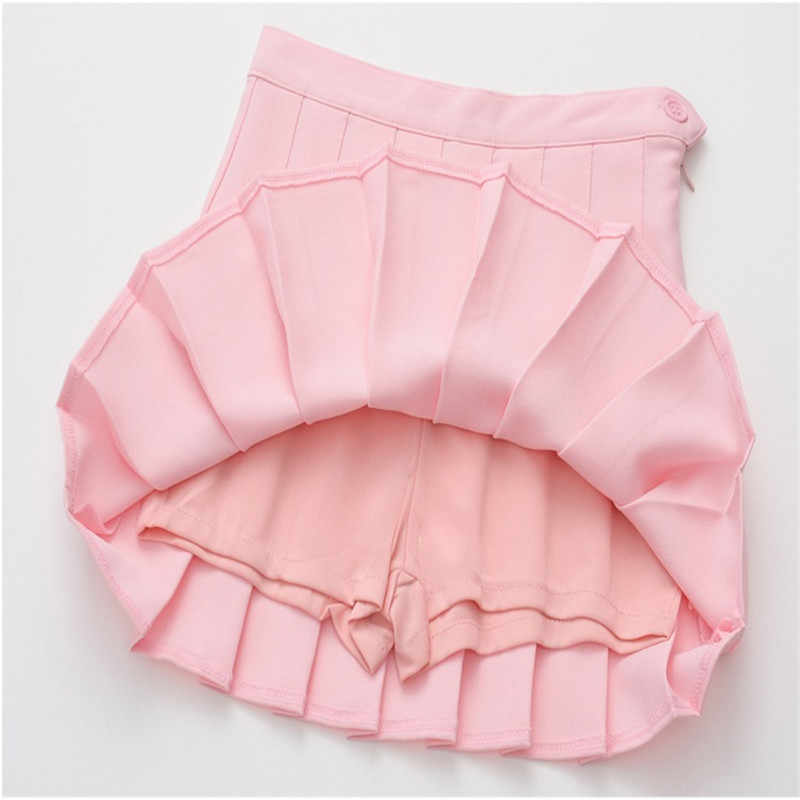 220f408932 ... Merry pretty High Waist Short School Pleated Skirt Women's Mini Sexy  Pink Summer Skirts Womens Leggings