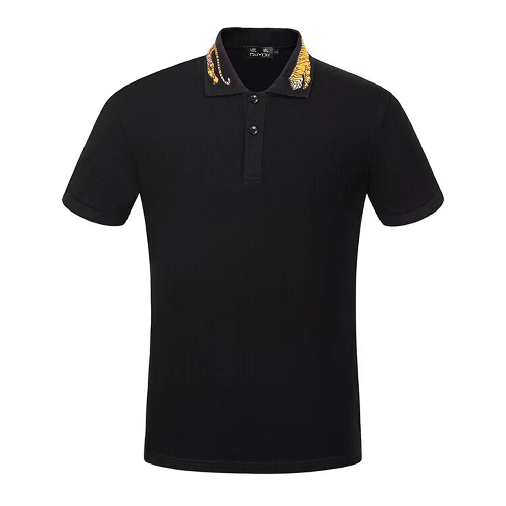 DUYOU Mens New Summer Polo Shirt Men High Quality 100% Cotton Mens Polo Shirt Short Sleeve Embroidery Polo Shirt Male Clothing