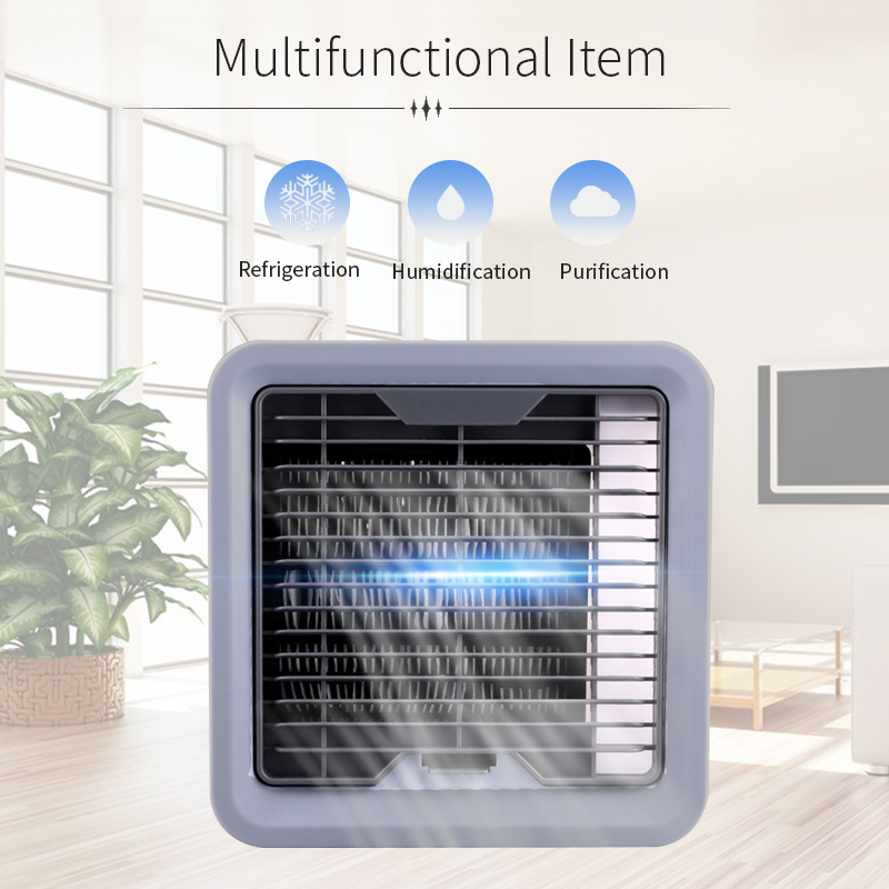 Portable Mini Air Conditioner Fan Personal Space Cooler The Quick Easy Way to Cool Any Space Home Office Desk Air Cooling Fan portable mini air conditioner fan personal space cooler the quick easy way to cool any space home office desk 3 type