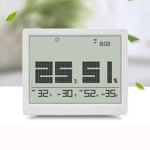 Cheapest prices EAAGD Indoor Thermometer Digital Hygrometer Large Display Humidity Temperature Monitor Multifunctional Weather Station with Time