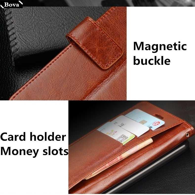 """Posiadacz karty pokrywy skrzynka dla Sony Xperia XZ1 5.2 """"XZ1 Compact 4.6 skórzany futerał na telefon pu supercienki portfel etui z klapką etui na telefon torby"""