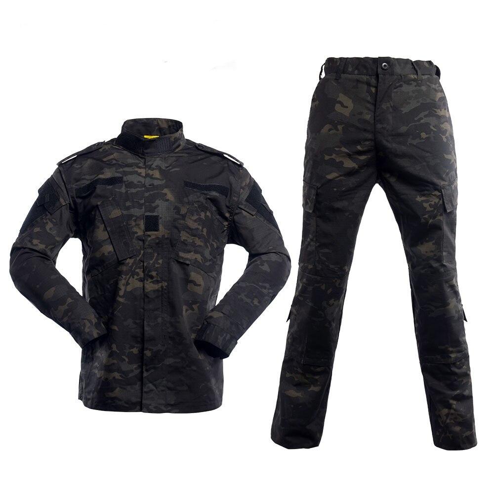 Uniforme militaire Camouflage tactique BDU Multicam noir armée vêtements chemise de Combat pantalon Airsoft Sniper Camo vêtements de chasse
