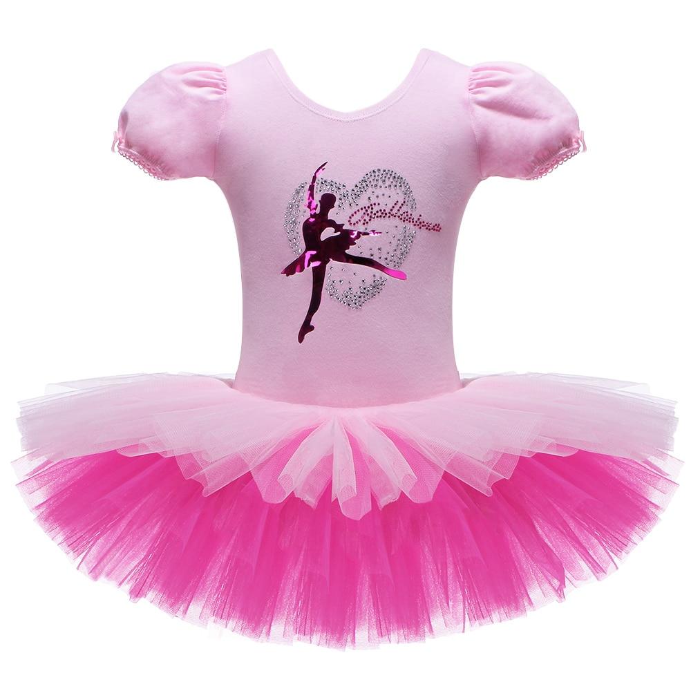 BAOHULU Short Sleeve Ballet Dress Girl Child Ballet Tutu Dance Costume Ballerina Dancing Clothes Dance Leotard
