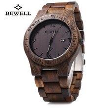 Bewell ZS-W086B Luxury Brand Wood Watch men Analog Quartz Mo