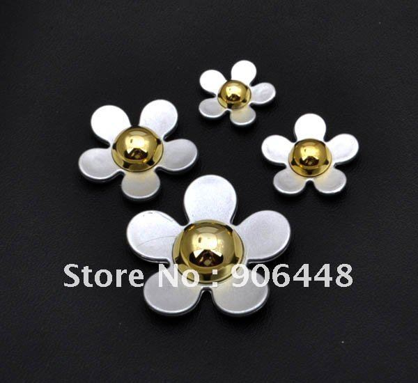 Four sizes mixed daisy flowers set_Flatback resin accessory for DIY decoration_Please remark prefered color in order(4sets/lot)