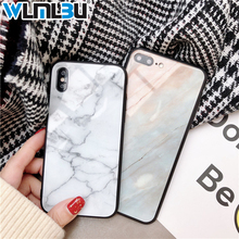 WLMLBU Marble Glass Phone Case For Apple iPhone X 8 7 6S 6 Plus Fashion Tempered Coque Back Cover Cases 10