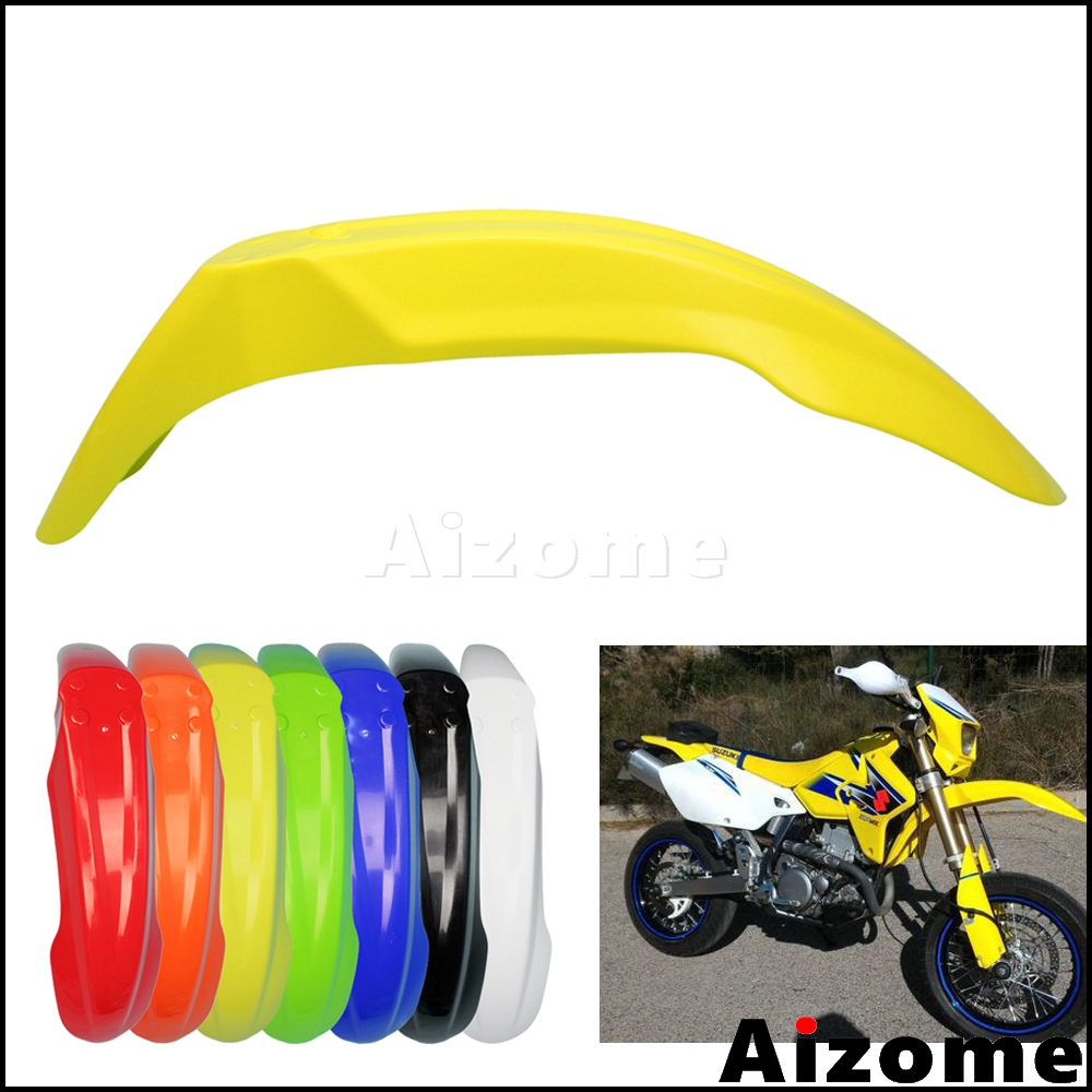 Universal Dirt Bike Yellow Off Road Front Fender Motocross Front Mud Guard Plastic Mudguard For Suzuki RMZ RM DRZ 125 250 450