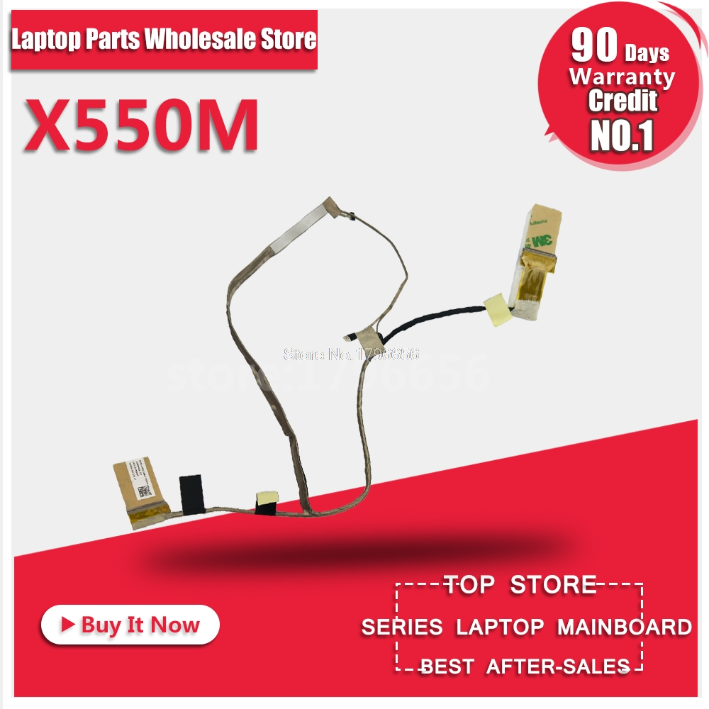 New Laptop Screen LVDS/LED/LCD Video Flex Cable For ASUS X552M X550MD X550MJ X550M 1422-01KD0000 1422-01FY000 1422-01JQ000