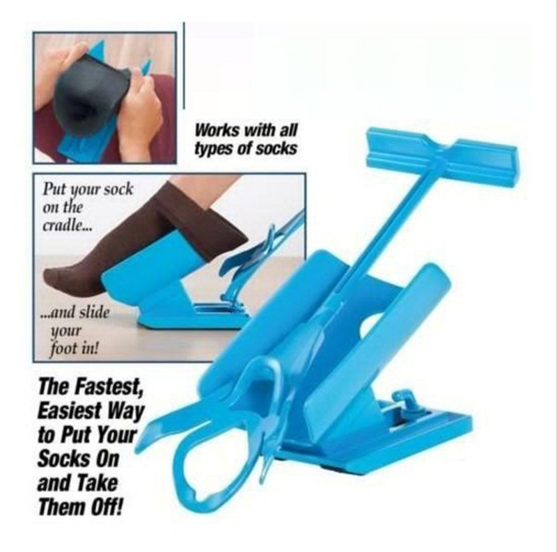 Old People Christmas Gifts: Creative Sock Slider Wear Socks Storage Holder Rack Lazy