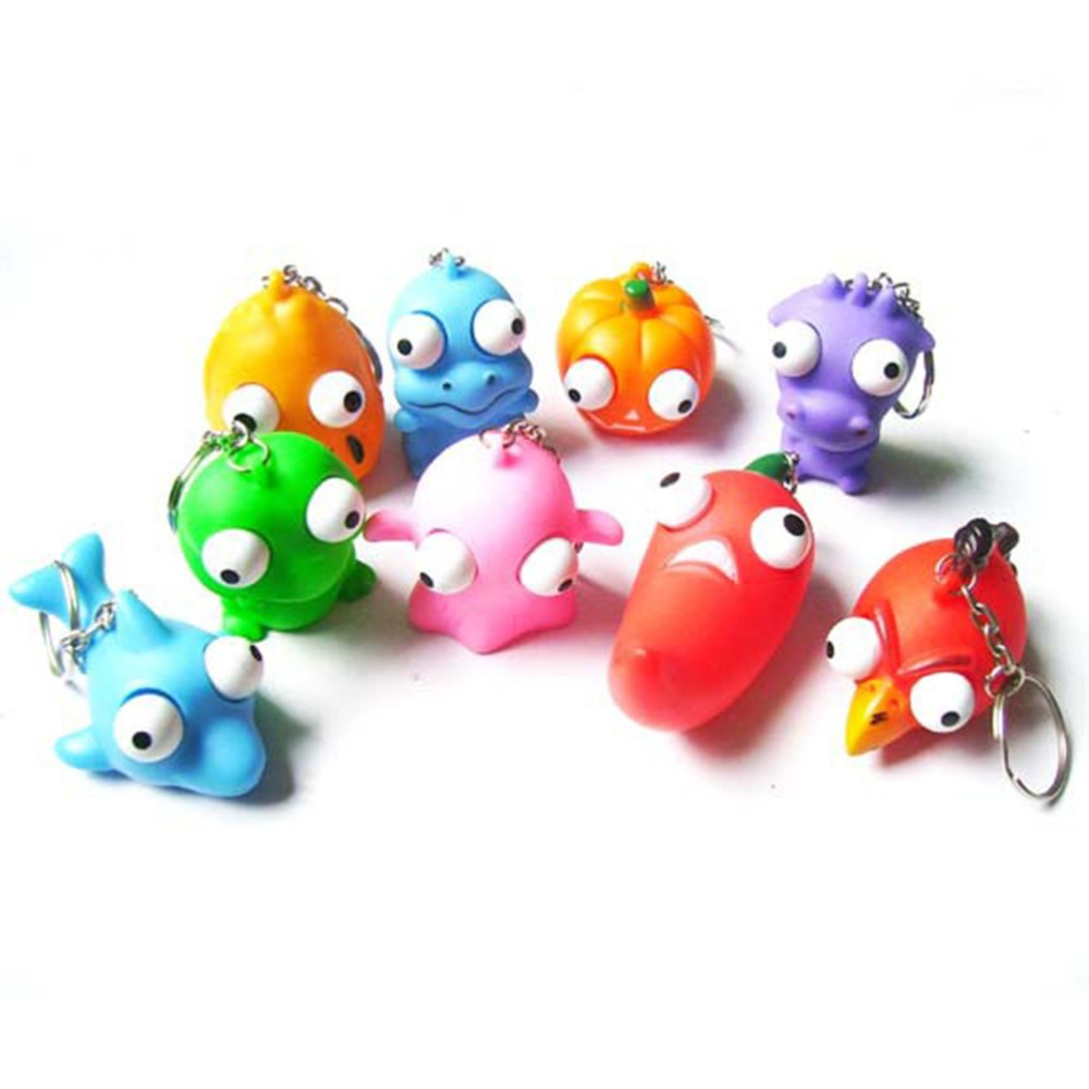 Funny Anti Stress Ball Animal Vent Toy Novelty Products Fun Antistress Extruding Big Raised Eyes Doll Keychain Squeezing Toys