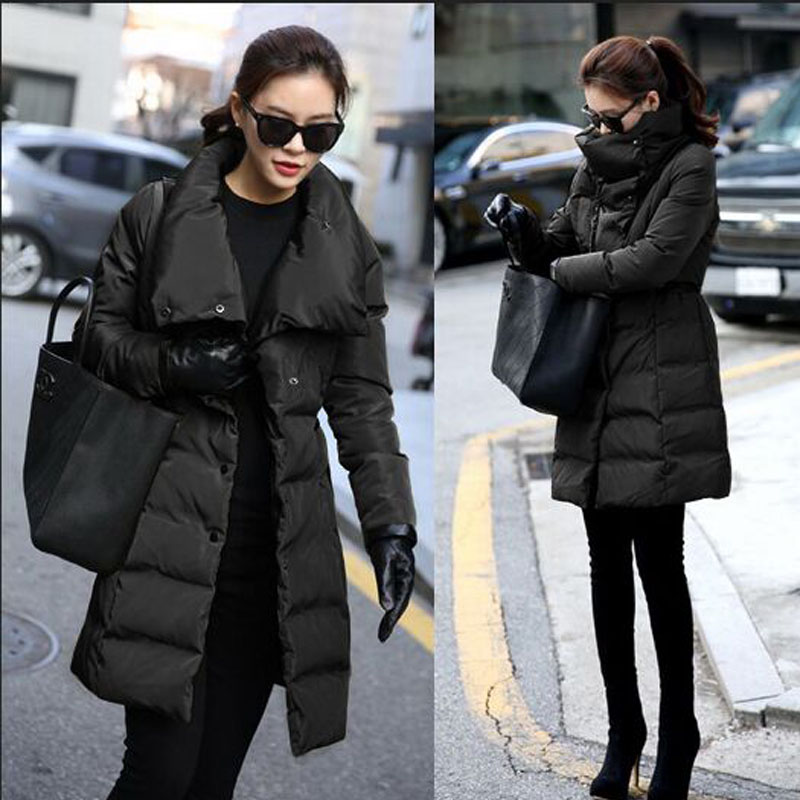 ФОТО Winter Jacket Women 2016 New Fashion Winter Coat Women Slim Long Down Parka Outwear Female Jacket Plus Size 3XL
