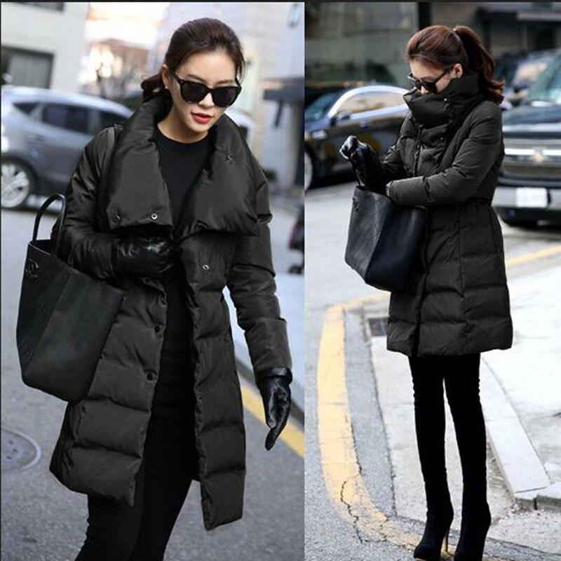 Winter Jacket Women 2018 New Fashion Winter Coat Women Slim Long Down   Parka   Outwear Female Jacket Plus Size 3XL