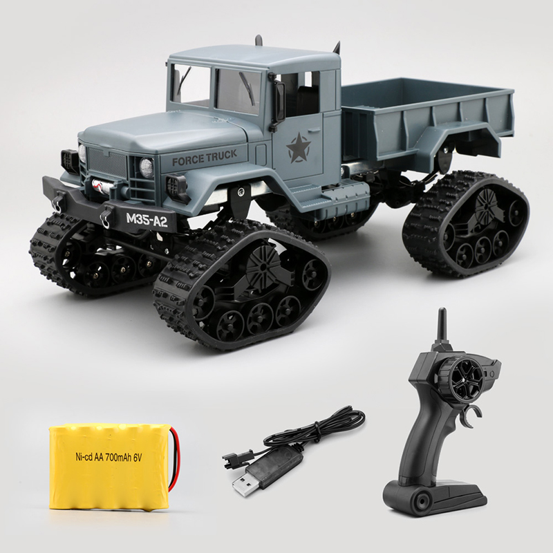 цена WPL 4WD 1/16 Remote Control Military Truck 4 Wheel Drive Off-Road RC Car Model Remote Control Climbing Car RTR Gift Toy