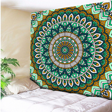Royal Blue/Mint Green Mandala Tapestry Psychedelic Wall Hanging Bohemian Tapisserie Murale Indian Floral Wall Carpet Beach Towel 48v sanyo ga battery pack 17 5ah electric bike lithium ion battery for 1000w