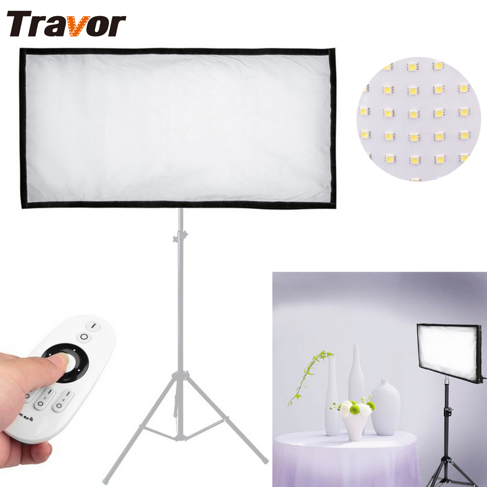 Travor noul sosire FL-3060 LED-uri flexibile LED Video 448pcs LED-uri CRI95 5500K 2.4G Contul de la distanță pentru fotografiere