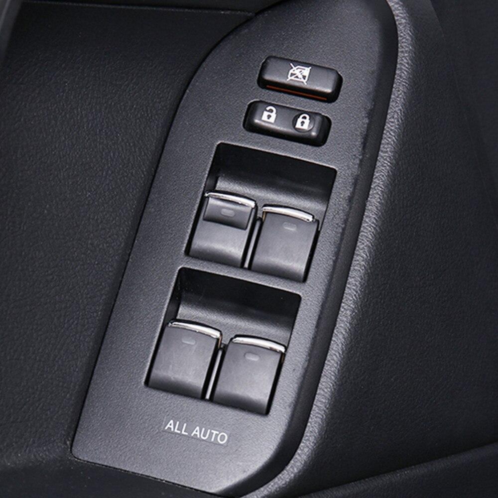 Levantamento de vidro Interruptor Lantejoulas para Toyota Land Cruiser Prado FJ150 FJ200 4 Acessórios Camry Corolla RAV 7 pçs/set