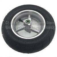 90 65 6 5 Inch Pocket Bike Front Wheels Tyres Mini Racing Bike Tire Tubeless Vacuum