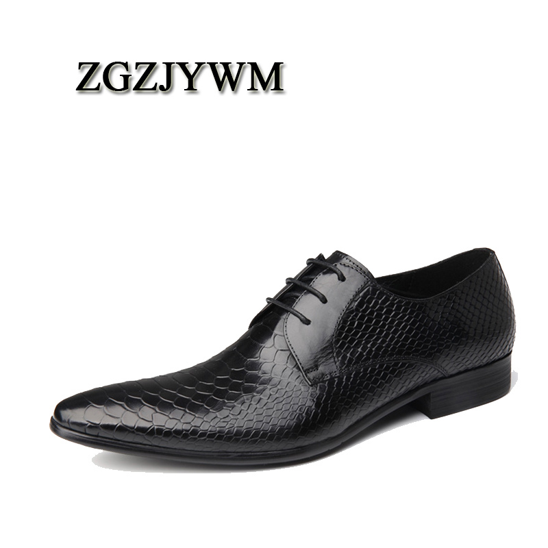 ZGZJYWM Spring/Autumn Black/Red Oxfords Snakeskin Pattern Dress Lace-Up Genuine Leather Wedding Mens Business Office ShoesZGZJYWM Spring/Autumn Black/Red Oxfords Snakeskin Pattern Dress Lace-Up Genuine Leather Wedding Mens Business Office Shoes