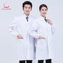 Doctor white coat mens and womens laboratory wear autumn winter long sleeve doctor nurse pharmacy uniform