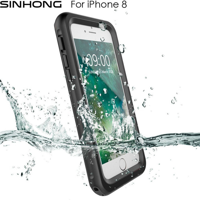 huge selection of 101c8 3a39f US $22.09 |Waterproof Shockproof Case For Apple iPhone 8 iPhone8 Cover  Water Proof Shock Resistant 360 Full Protection For Diving Swimming-in  Fitted ...