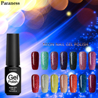 Paraness Lucky 24 Colors Neon Nail Varnish Art Colorful UV Nail Gel Polish Soak Off Long Lasting 7ML Rainbow Color Gel Lacquer