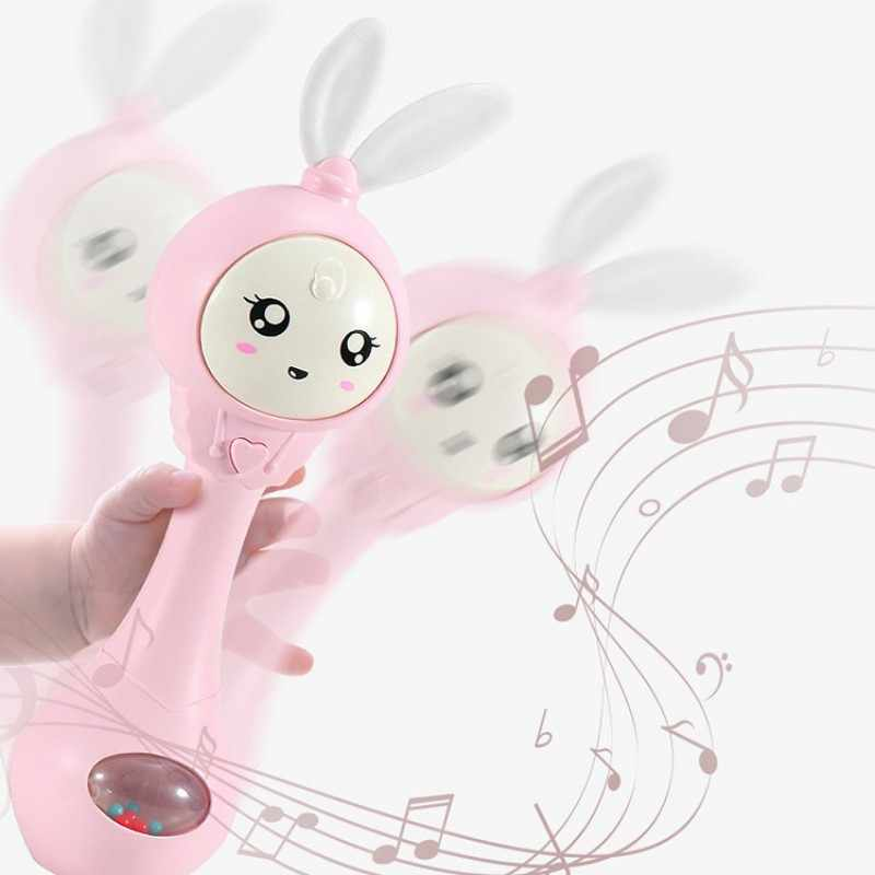 4 1 音楽点滅砂ハンマーベビーおしゃぶりガラガラおもちゃ教育安全素材ハンドベル早期学習おもちゃ