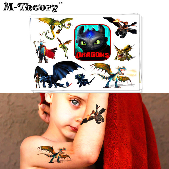 M-Theory Dragon Knights Temporary Makeup 3d Tattoos Sticker Henna Tatouage Body Art Tatuagem Tatto Sticker Flash Tatoos Stickers