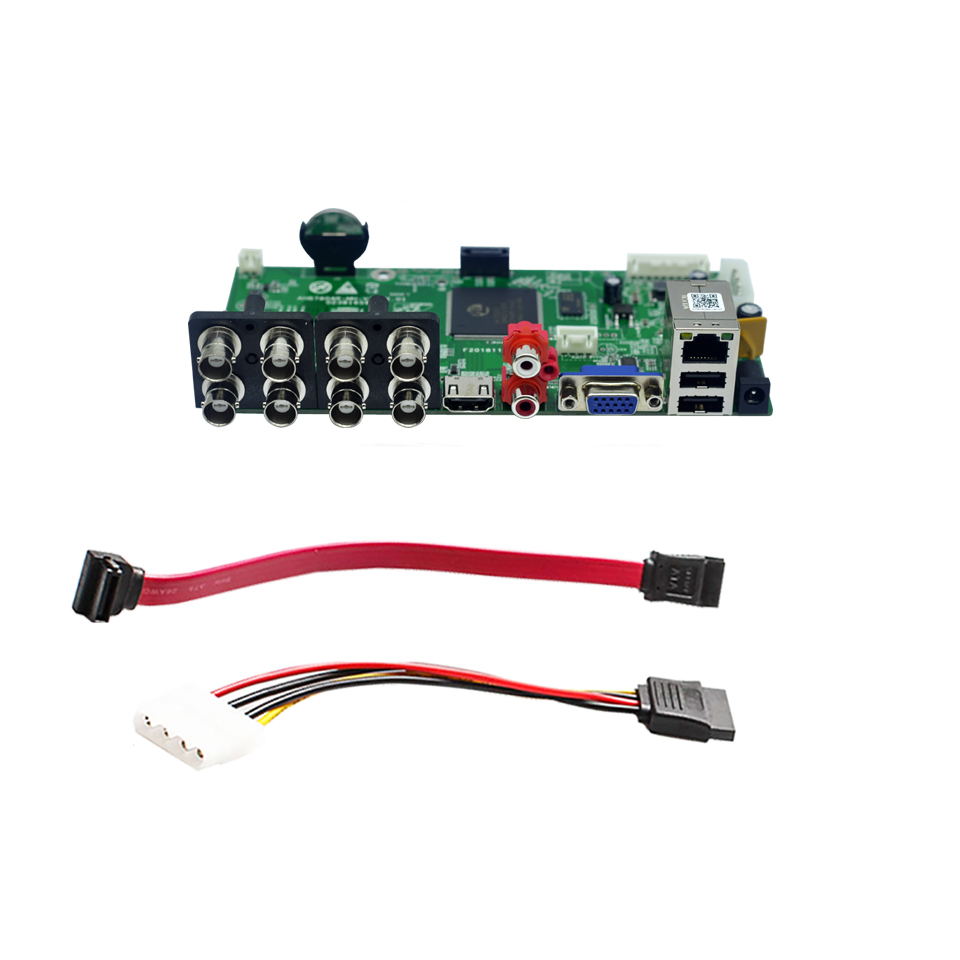 Caméra DVR 5 en 1 8CH 1080N   Caméra AHD CVI TVI IP CVBS 1080N/960P/5 mp, carte principale, Surveillance ONVIF