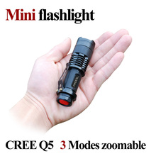Mini LED Flashlight ZOOM 7W CREE 2000LM Waterproof Lanterna LED 3 Modes Zoomable Torch 3.7V AA 14500 battery Flashlight led