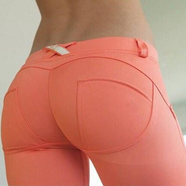 S-XL de las nuevas Mujeres Empuja Hacia Arriba Los Pantalones Bajo La Cintura de La Cadera Leggings Push Up Hip Sexy Pantalones Para Las Mujeres de Moda Sólido Elástico Leggings Aventura