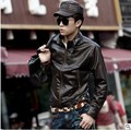 The new 2016 men's PU leather jacket water locomotive furs Cultivate one's morality men's leisure coat