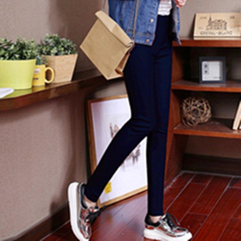 2018 printemps automne mince enduit pantalon en cuir artificiel femme slim Leggings porter jeans femmes jambières d'exercices - 3