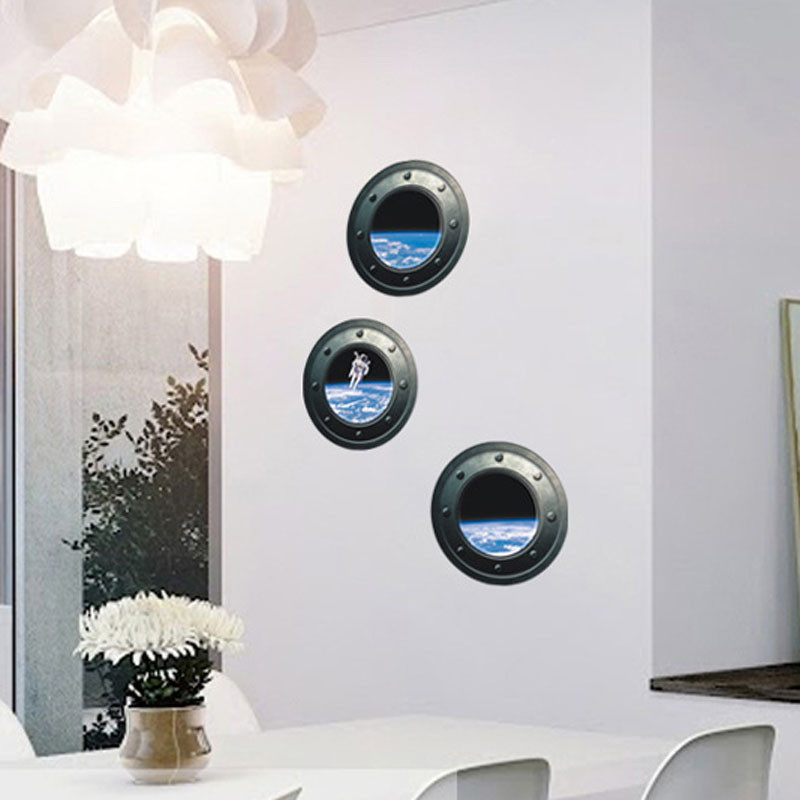luxury 3D font b home b font decor universe astronaut wallpaper wall stickers high quality on