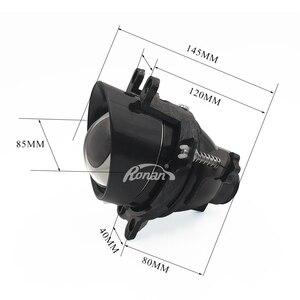 Image 3 - Ronan 2pcs adjust Fog Lights Bi xenon Projector Lens For Camry/Corolla/RAV4/Yaris/Auris/Highlander H11 D2H HID Bulb Accessories