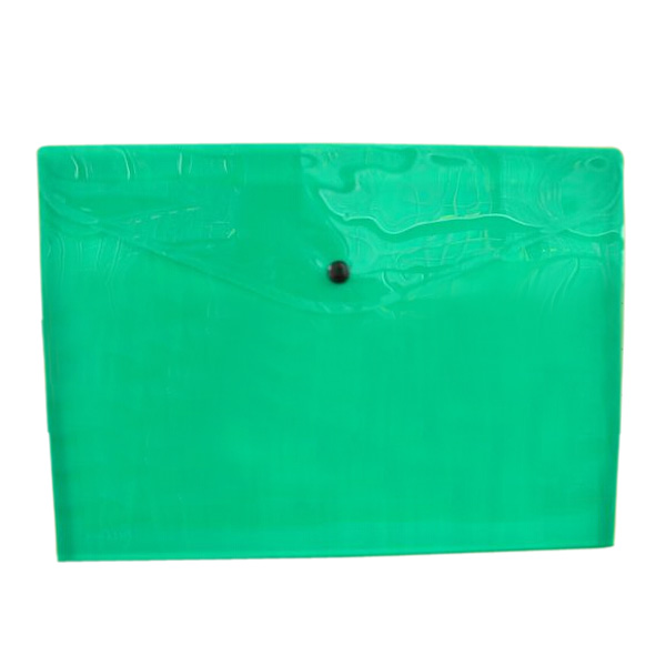 New And Hot Pack Of 12 Quality Plastic Stud Document Wallets Folders Filing Paper Storage-green-A4