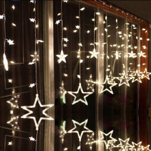 4M 138LED Romantic Fairy Star Led Curtain String Light Warm white EU220V/Battery Box Garland Light Wedding Party Holiday lamps(China)