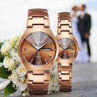 New fastion quartz watch men women lover s wristwatches golden luminous waterproof steel band couple double.jpg 200x200