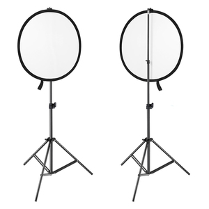 Image 5 - 2 in 1 80cm Light Reflector Portable Collapsible Round Photography Reflector Gold & Silver for Portrait Photography Accessories