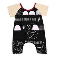 Toddler New Infant Newborn Kids Baby Boys Summer Romper Jumpsuit Pants Trousers Short Sleeve Outfits