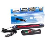 Pantalla de desplazamiento de señal de mensaje programable LED rojo de coche de 12V con pantalla led de coche a control remoto